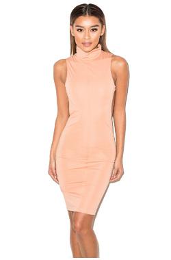 Bae-B Peach Backless Dress