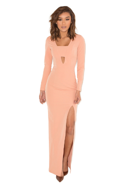 Last Dance Dusky Pink Cut Out Maxi Dress