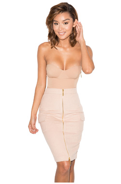 Reckless Nude Strapless Bodysuit