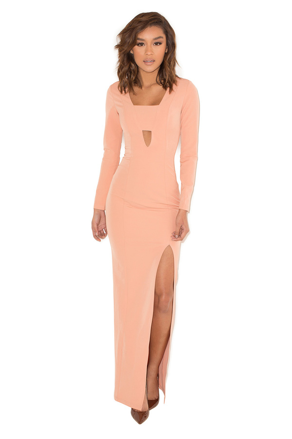 Last Dance Dusky Pink Cut Out Maxi Dress