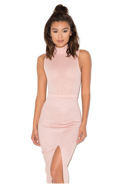 Easy Rider Blush Jersey Cropped Top