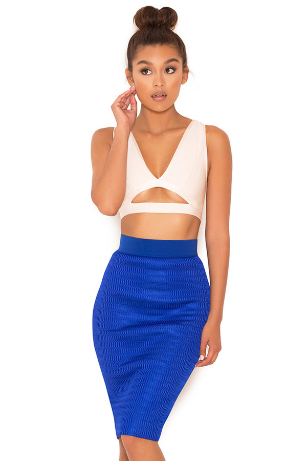 Stop There Cobalt Blue Pencil Skirt
