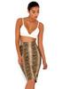 Roadie Vegan Leather Snakeskin Pencil Skirt
