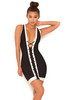 Rodeo Black & White Lace Up Bandage Dress