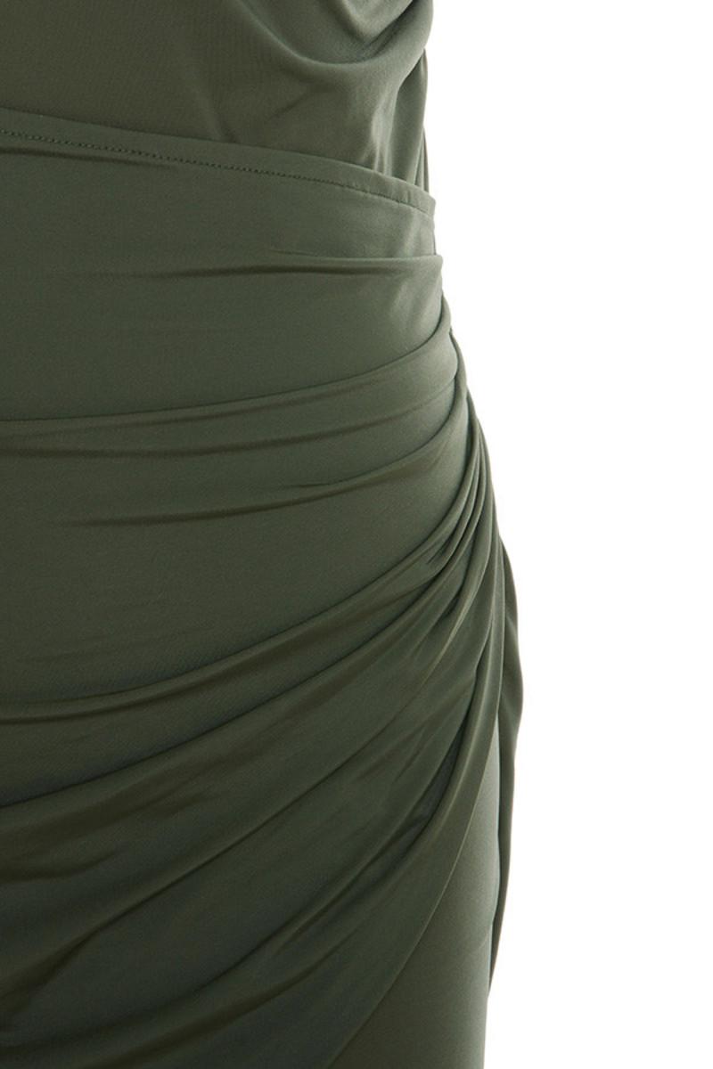 khaki karma dress