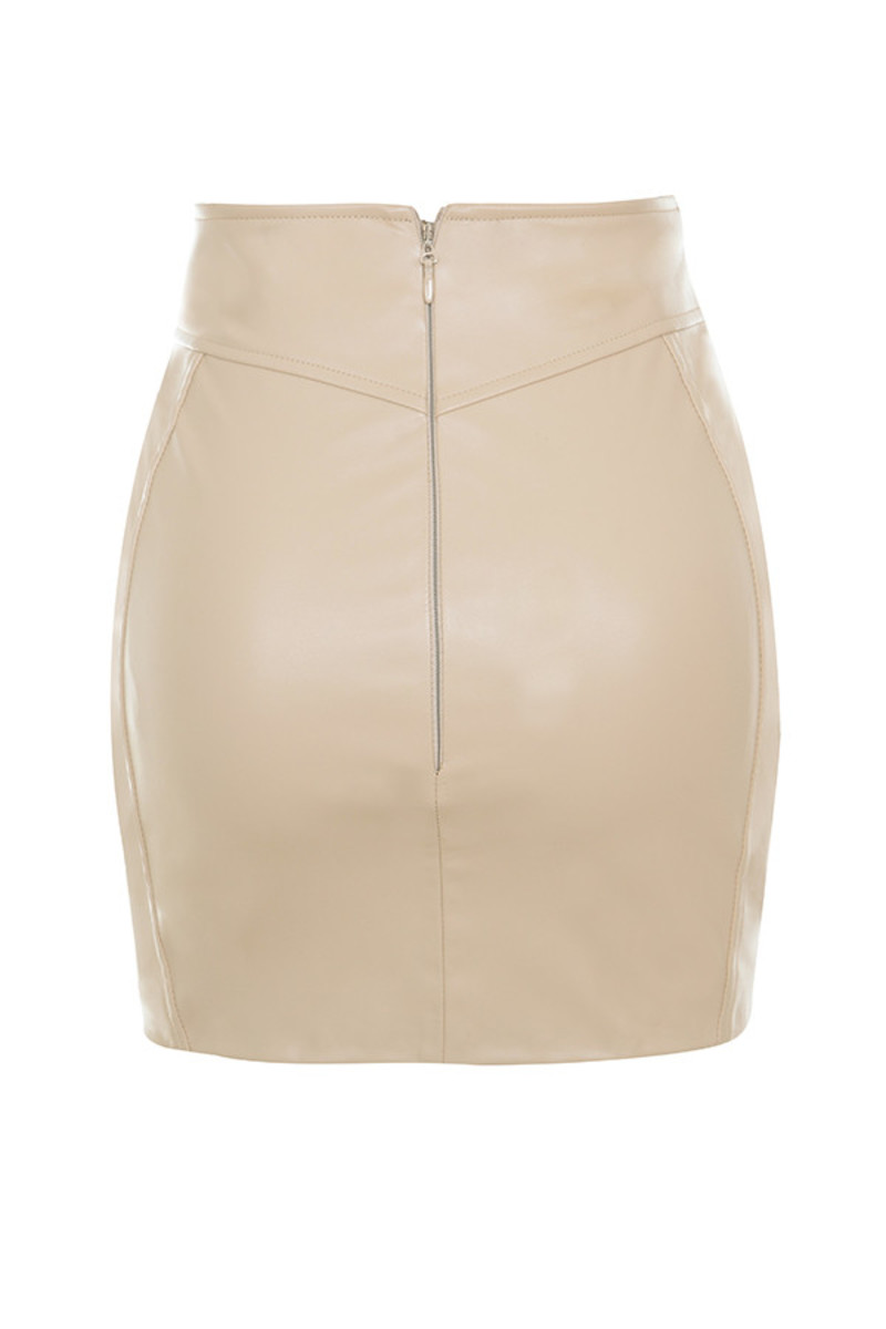 purist skirt in nude