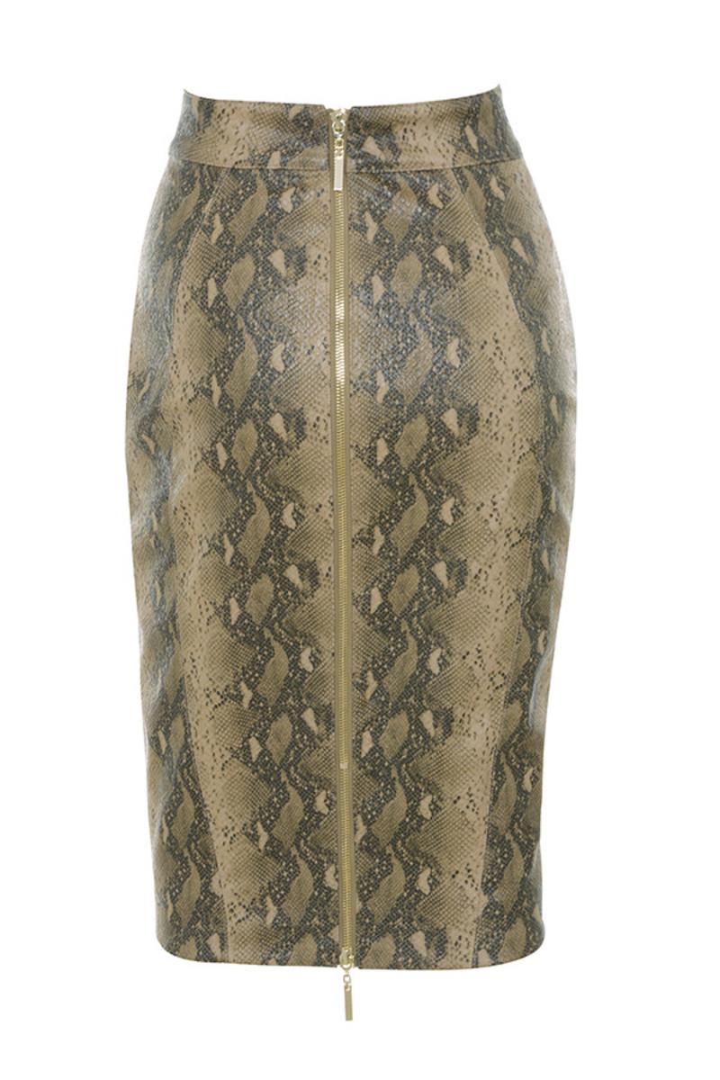 roadie skirt in snakeskin