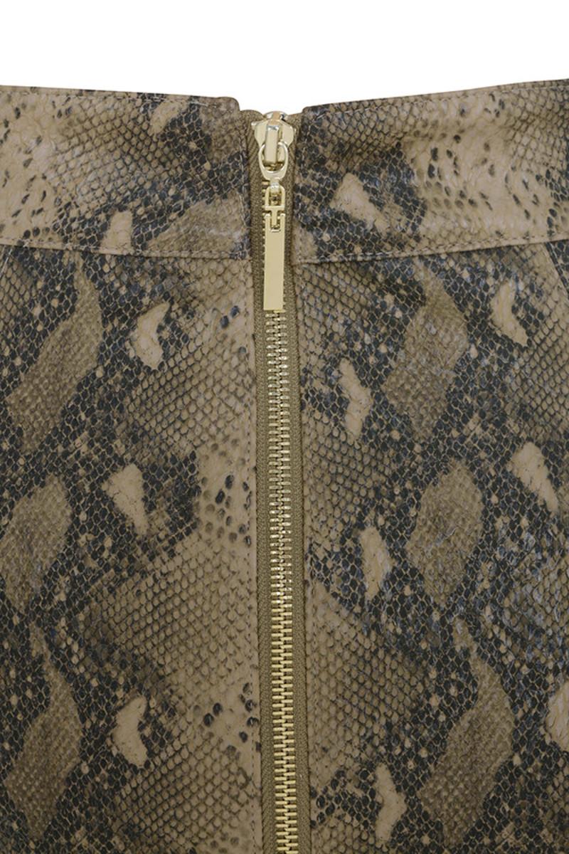 snakeskin roadie skirt
