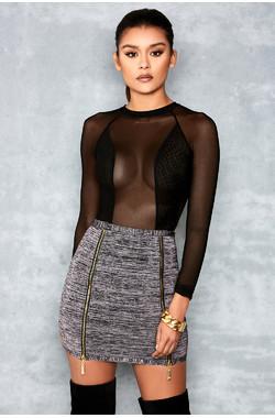 Bliss Grey Marl Bandage Mini Skirt
