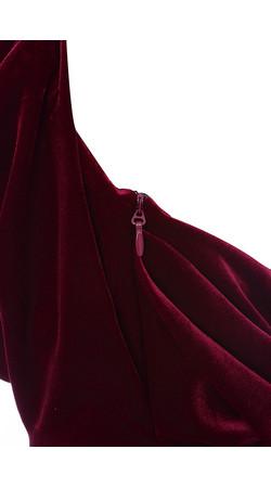 homecoming deep red dress