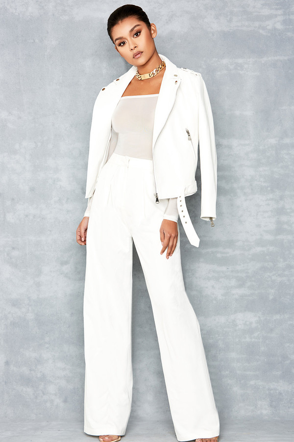 Crazy Over White Wide Leg Trousers
