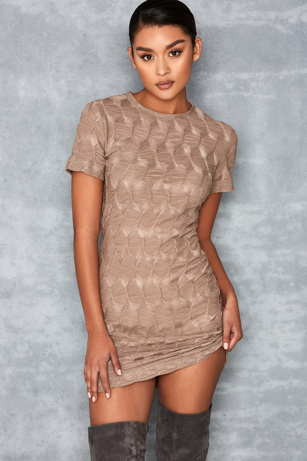 Hardwired Textured Bodycon Mini Dress