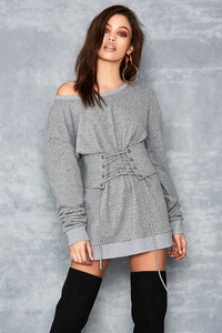 Nutcracker Grey Mark Corseted Sweatshirt Dress