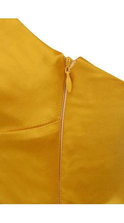 courtesan mustard dress