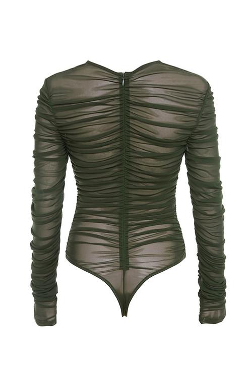 stellar bodysuit in khaki