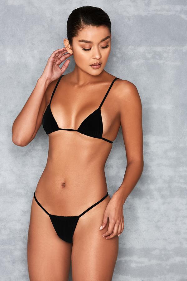 Next To Nothing Black Micro Bikini