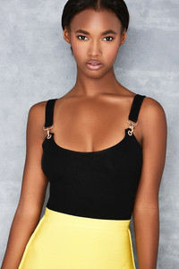 Courage Black Clasp Detail Bodysuit