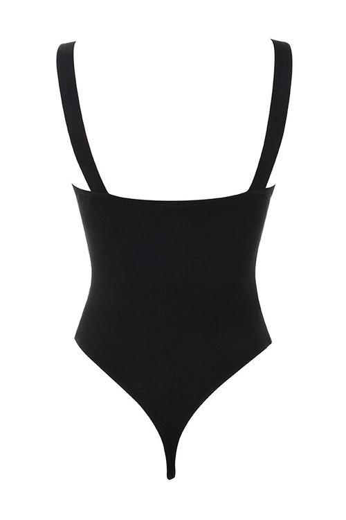 courage bodysuit in black