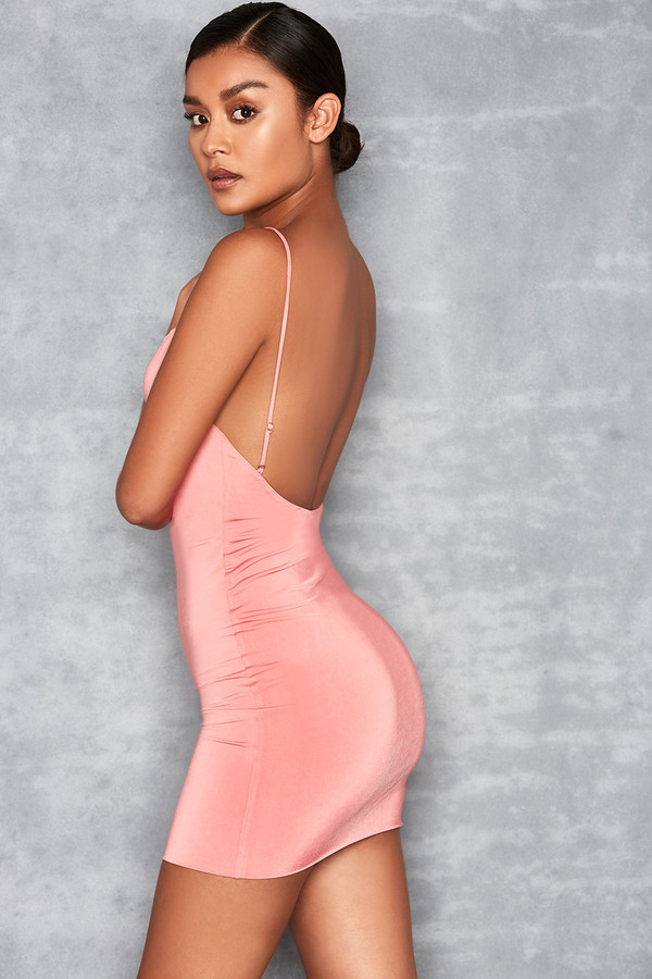 Cosmopolitan Pink Backless Mini Dress
