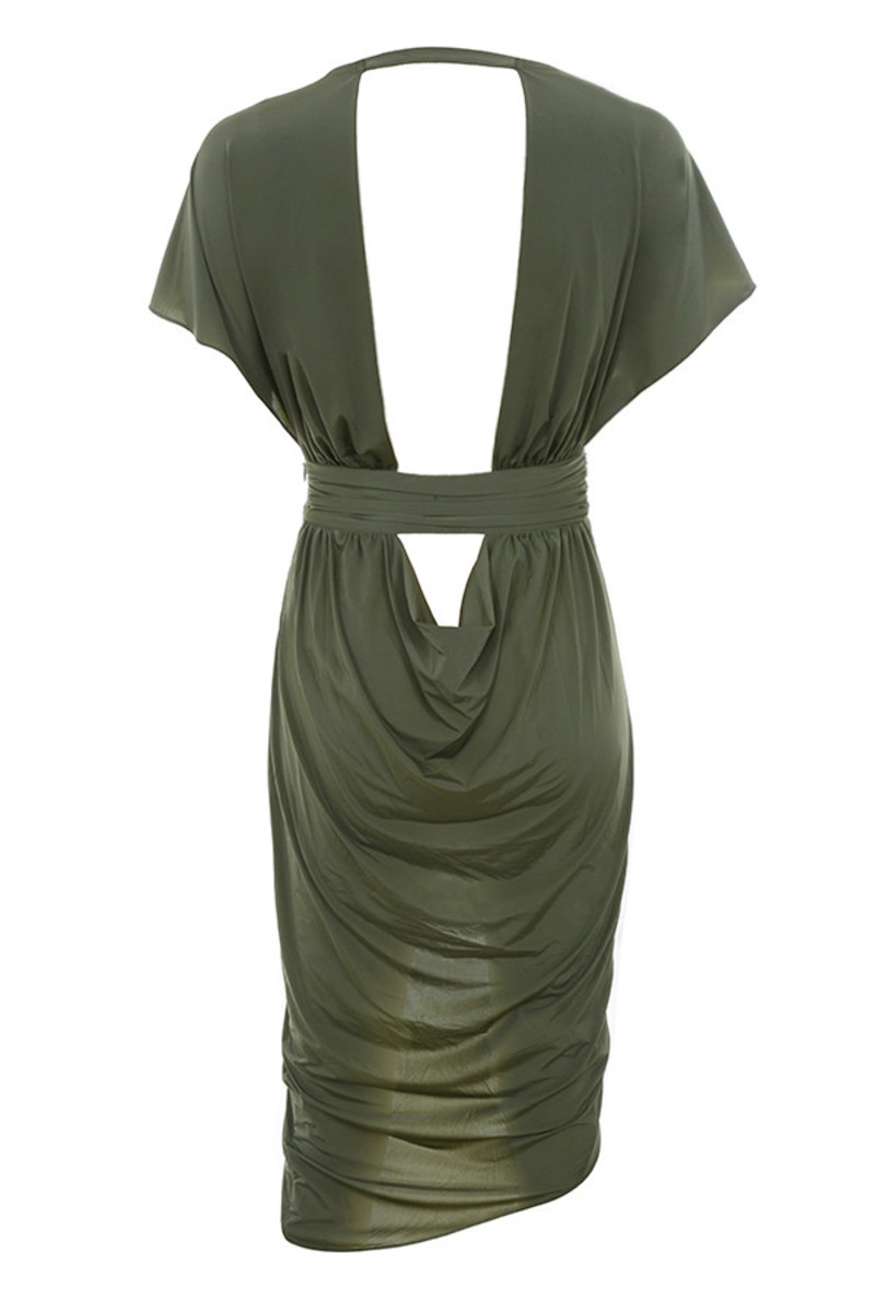 madame dress in khaki