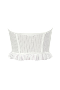 floozy top in white