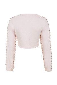 lace me up top in blush