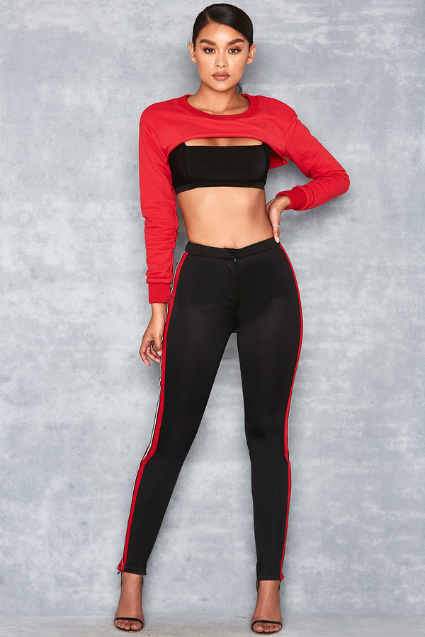 Swing Black Sports Tape Leggings