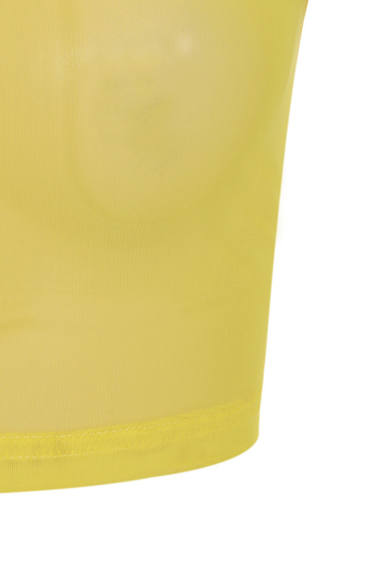 angel face top in yellow